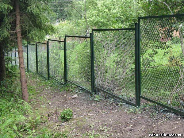 Забор из блоков рваный камень и евроштакетника – цена за секцию ... | 450x600