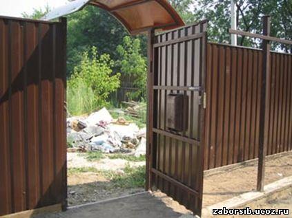 Забор на даче видео